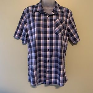 Travis Mathew Plaid Shirt, Size Medium